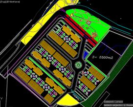 نقشه اتوکد آبیاری دستی و اتوماتیک پارک شهری
