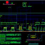 نقشه اتوکد تاسیسات مکانیکی خوابگاه دانشجویی دیاگرام موتورخانه