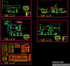 دانلود نقشه اتوکد تاسیسات مکانیکی پروژه ساختمان ویلایی دارای موتورخانه ، استخر و جکوزی