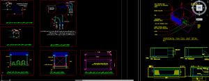 نقشه اتوکد جزئیات اجرایی نصب فن کویل سقفی و اتصالات