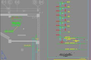 نقشه اتوکد رایزر دیاگرام فن کویل ها و چیلر تراکمی هوا خنک