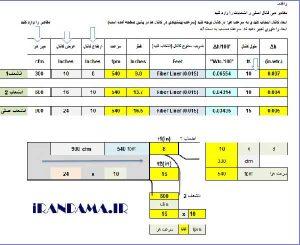 برنامه محاسبه take off و ابعاد کانال با فایل اکسل xls به زبان فارسی