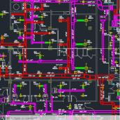 آلبوم کامل نقشه اتوکد بیمارستان 200 تختخوابی -معماری ،تاسیسات الکتریکی و مکانیکی