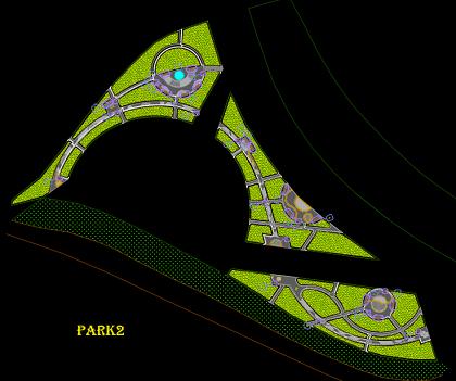 نقشه اتوکد آبیاری دستی و اتوماتیک پارک شهری 2