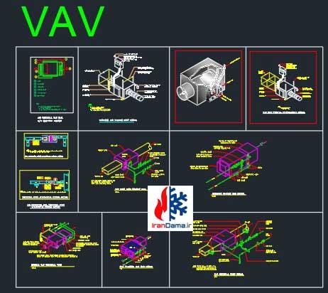 نقشه اتوکد جزئیات اجرایی VRF ، نقشه اتوکد DVM ، نقشه اتوکد جزئیات اسپلیت یونیت