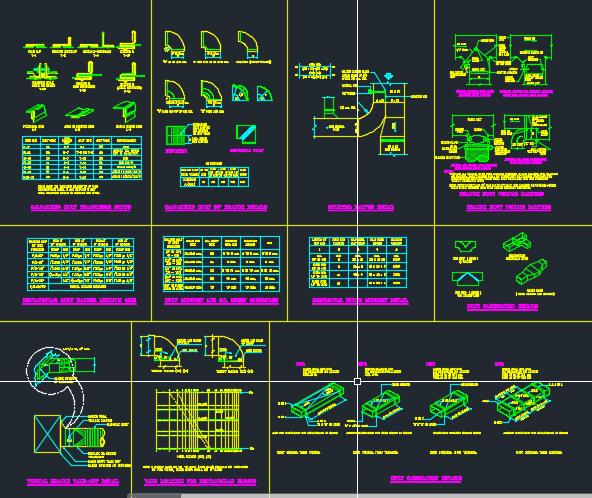 نقشه جزئیات اجرایی تاسیسات مکانیکی