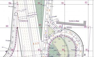 معماری ، سازه و برقرسانی به یک تقاطع غیر همسطح