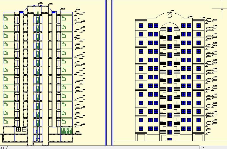 نقشه اتوکد تاسیسات برق مجتمع مسکونی 14 طبقه