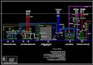 نقشه اتوکد موتورخانه پروژه بیمارستان رادیوتراپی و شیمی درمانی