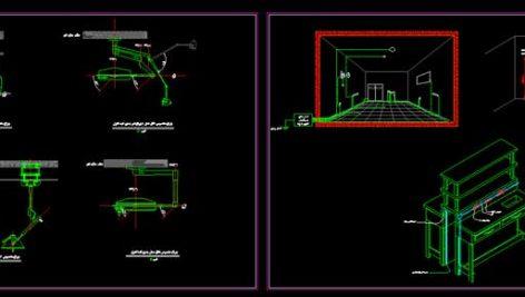 نقشه جزئیات برق اتاق عمل بیمارستان