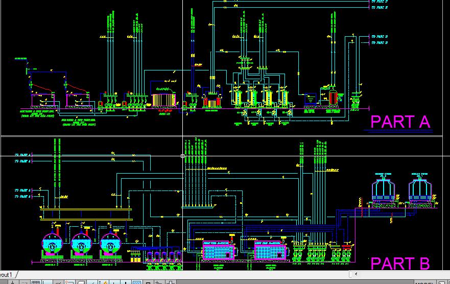 نقشه اتوکد تاسیسات مکانیک هتل چهار ستاره