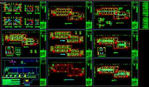 تصویر نقشه اتوکد تاسیسات مکانیکی خوابگاه دانشجویی