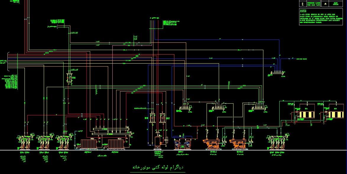 نقشه اتوکد تاسیسات مکانیک پروژه نمایشگاه و موزه
